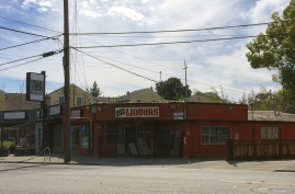 One Stop Liquor, next door from The Willow Den and approximate to Mr. T's