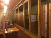 Tatami rooms at Komatsu Japanese Cuisine