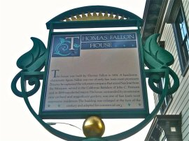 [File photo] History marker at the Fallon House.